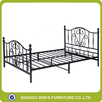 2 Adult Black Flower Metal Bed Cheap Wrought Iron Double Bed Buy