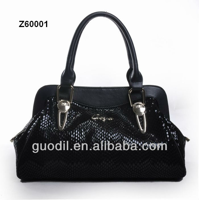 Oil leather genuine leather ladies satchel bag