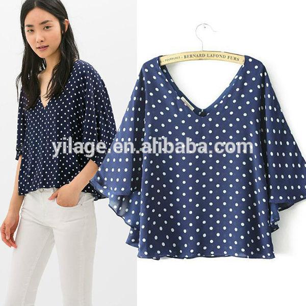 1092807d04e24 stock de prendas de vestir para mujer ropa de cuello en v manga murciélago  blusa de