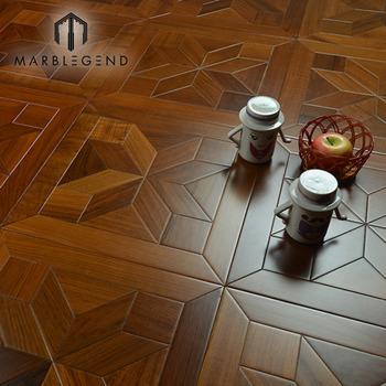 Flower Teak 12x12 Wooden Floor Tile Cheap Price Wood Inlay Parquet