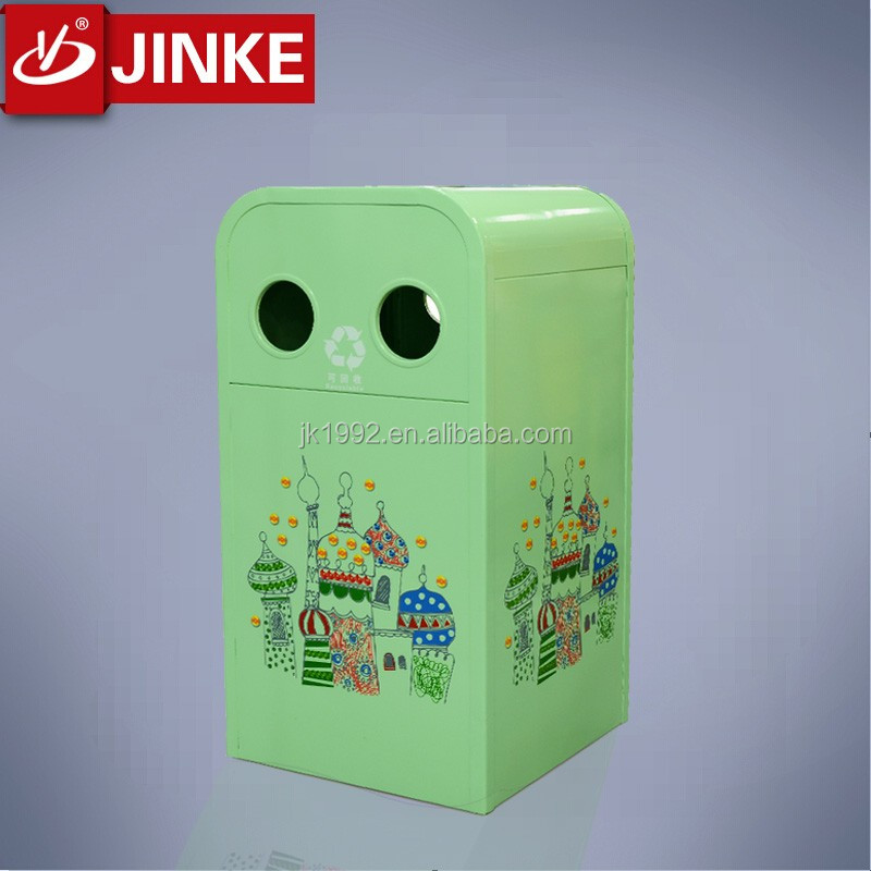 China Manufacture Metal Garden Fireproof Standard Size Trash Can