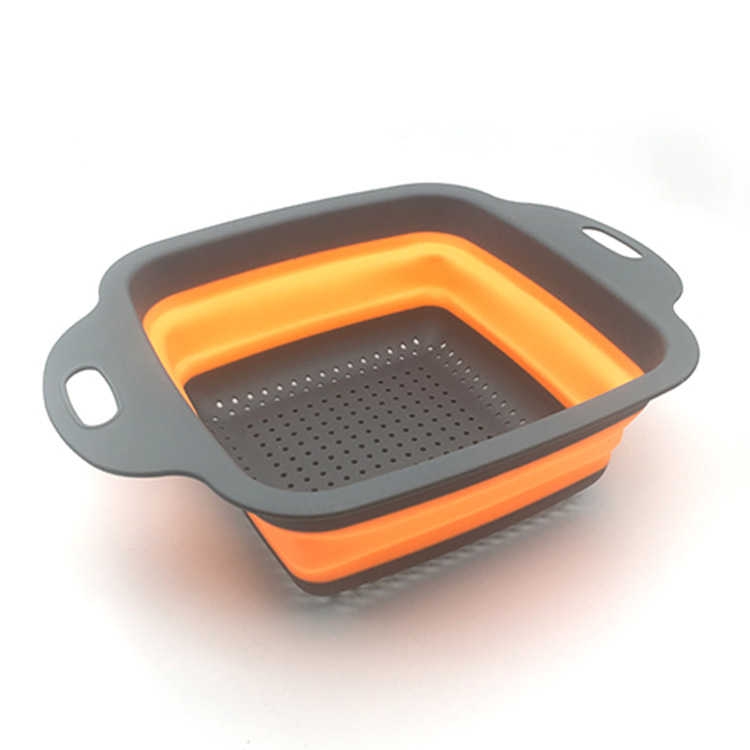 Promo colorful plastic foldable kitchen basket