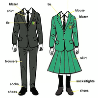 Design your own beautiful children international school uniform with pictures