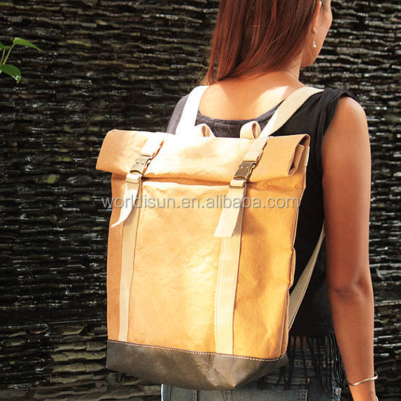 Convertible Messenger Bag/bicycle bag/ washable paper backpack for travel