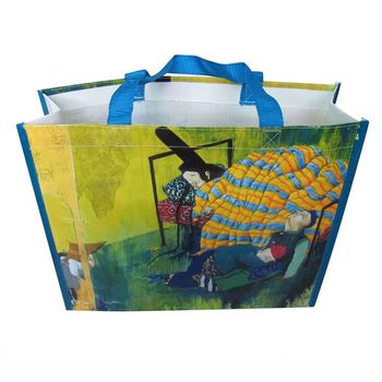Custom Promotional colorful Printing laminated pp non woven bag