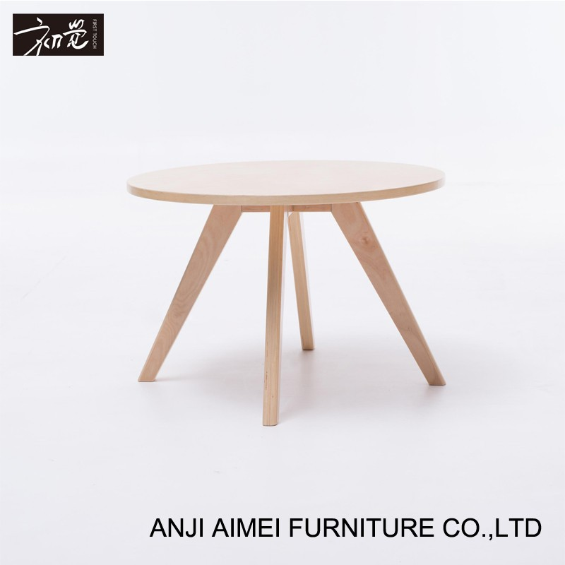 Top Selling Plywood Round Side Wooden Modern Coffee Table