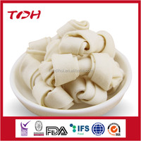 bleached rawhide knotted chewing bone pet food