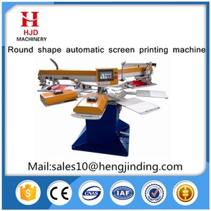 2/4color automatic rotate screen printing machine with high precision