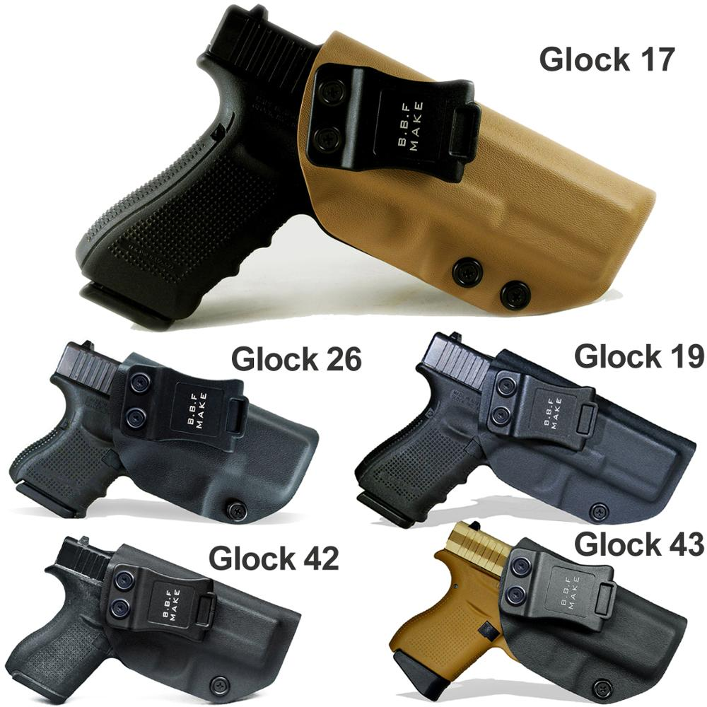 B.B.F Make Glock 19 17 25 26 27 28 43 23 3132 <strong>Gun</strong> <strong>Holster</strong> Inside Concealed Carrier Pistol Case IWB KYDEX <strong>Holster</strong> <strong>Gun</strong> Bag