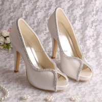 (20Colors) Ivory Satin Wedding Bridal Shoes in China