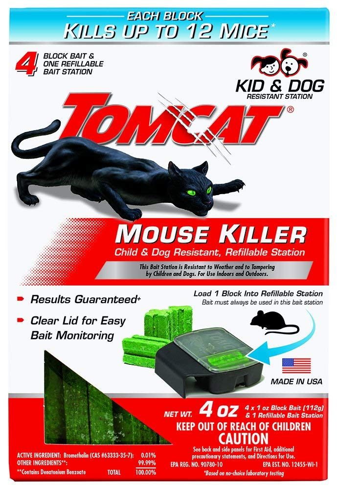 Tomcat Mouse Killer Child and Dog Resistant, Refillable Station