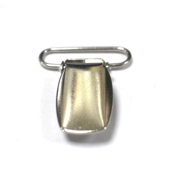 Nickel Plate 1 inch Fashion High Quality Metal Suspender Clip with plastic teeth inside for garment