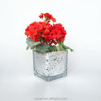 Casart Decoration Silver Mercury Glass Vasesquare Glass Vase Buy