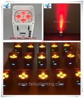 Wedding effect 6in1 RGBWA UV 4pcs 18w led par Quad wireless dmx battery powered DJ par up lighting