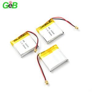 3.7v rechargeable li-ion battery 603030 500mah square lipo polymer batteries for portable devices