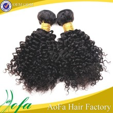 8 inch virgin remy indian hair weft aa weave 3b-3c kinky curly