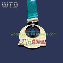 2017 Creative Matt gold enamel medal for International half marathon event souvenir Medal WM750