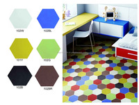 200x200mm colorful red/yellow/blue/pink hexagon modern living room/kitchenroom floor/wall hydraulic press cement tile