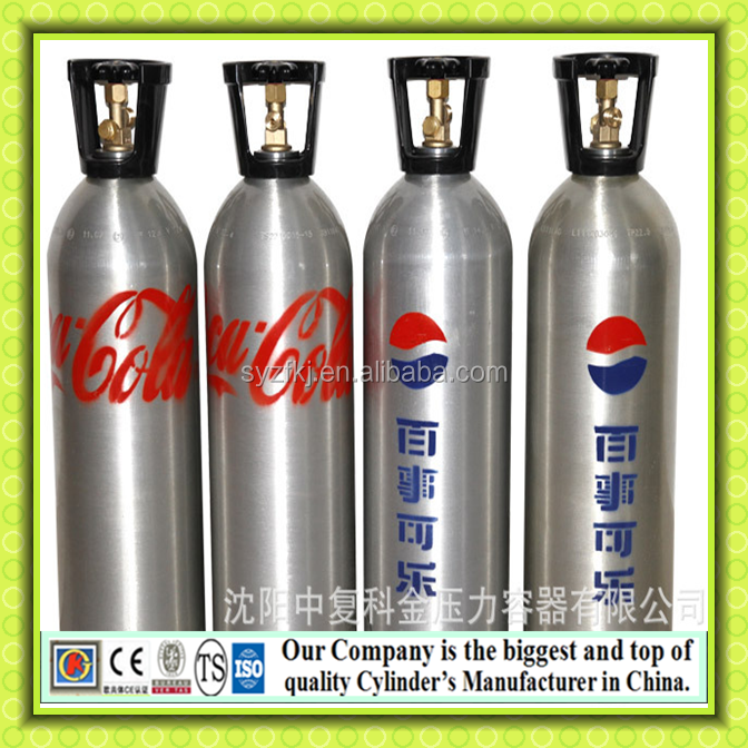 CE approved CO2 aluminum cylinder tank