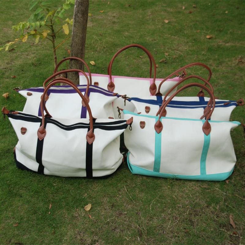 Wholesale Free shipping via Fedex Canvas Duffle Bag with Zipper ...
