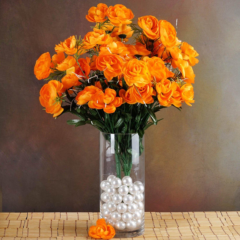 Cheap fake ranunculus flowers find fake ranunculus flowers deals on balsacircle 72 pcs silk ranunculus flowers for wedding arrangements 4 bushes orange izmirmasajfo