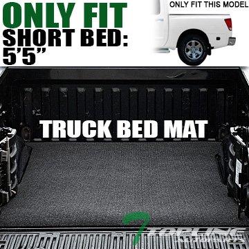 "Topline Autopart Black Polyester Truck Bed Cargo Box Floor Mat Carpet For 04-17 Nissan Titan Crew Cab 5.7 Ft 68.4"" Short Bed"