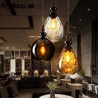 Transparent glass restaurant decorative hand blown glass lamp shades