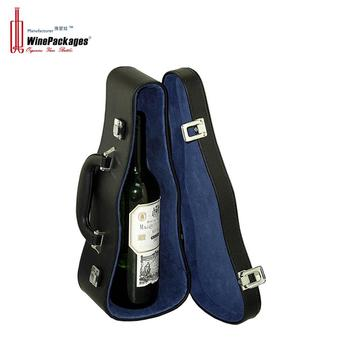 Creative violin shaped wine carrying case