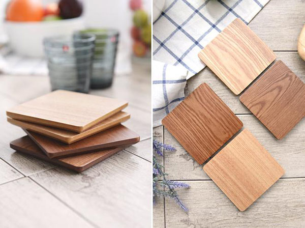 Hot Selling Square Wooden Cup Coaster Set Table Mat