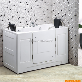 spouse handicapped two sided sitting bathtub with door for