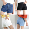 ladies summer trousers shorts fashion pants Denim High Waisted Folded Hem Jeans Shorts women