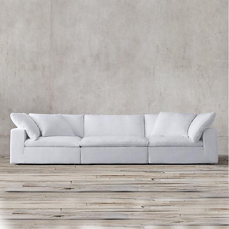 Fabric Sofa Modern Design White Modular
