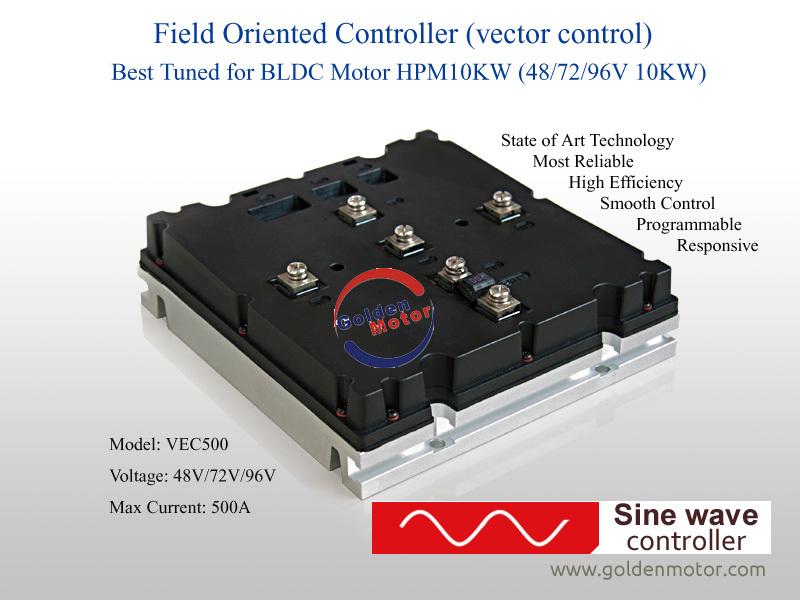 10kw 48v high power sine wave brushless motor controller for 3kw brushless dc motor