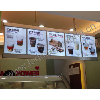 Hang Or Wall Mount Led Illuminated Restaurant Menu Board