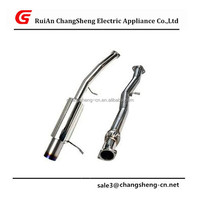"NEW High Quality 02-07 WRX STi 3""Catback Exhaust 4.5"" Titanium Style Slant Burnt Tip For Impreza"