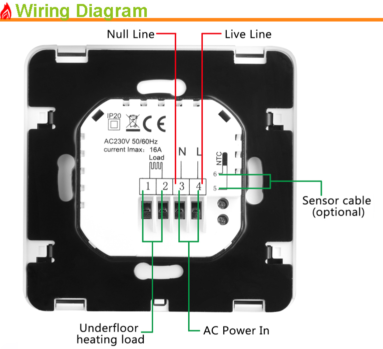 Programmable Radiant Floor Heat Film Thermostat For