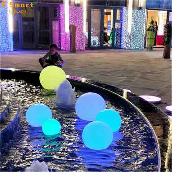 solar light balls luminous led stone lamp glowing waterproof garden outdoor solar led stone ball light