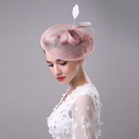 Women Fancy Feather Fascinator Hats Veil Wedding Hats and Fascinators Hair Accessories