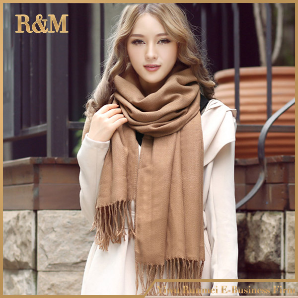 Fashion Wholesale women scarf manufacturers new design winter knitted scarf