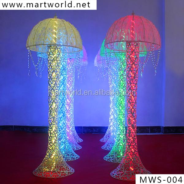 Umbrella crystal pillar for wedding with light crystal column umbrella crystal pillar for wedding with light crystal column wedding decorative wedding pillars wedding decoration junglespirit Choice Image