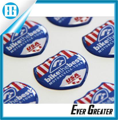 Custom plastic stickers label custom 3d doming stickers gel sticker