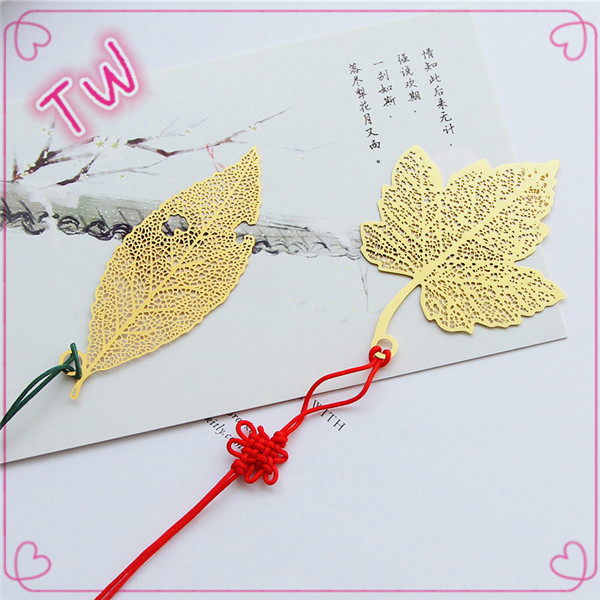import school stationery items list 2017 hot selling Personalized china style flower/leaf shaped bookmark <strong>metal</strong>