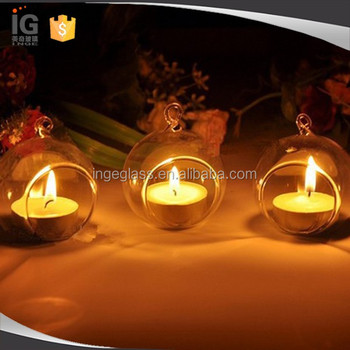 Gl Globe Hanging Tealight Candle Holder Round Holders
