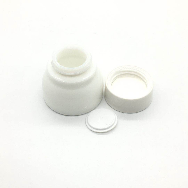 transparent clear glass cosmetic cream jar 5g 15g 30g 50g 100g glass bottle glass jar golden cap or silver color
