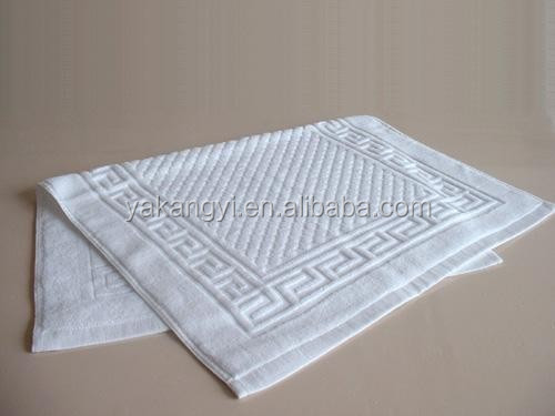Luxury hot sale 50*80cm white cotton floor towel
