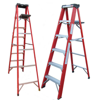 Certified European frp ladder load 400KG step ladder with platform popular foldable stairs latest design attic ladder