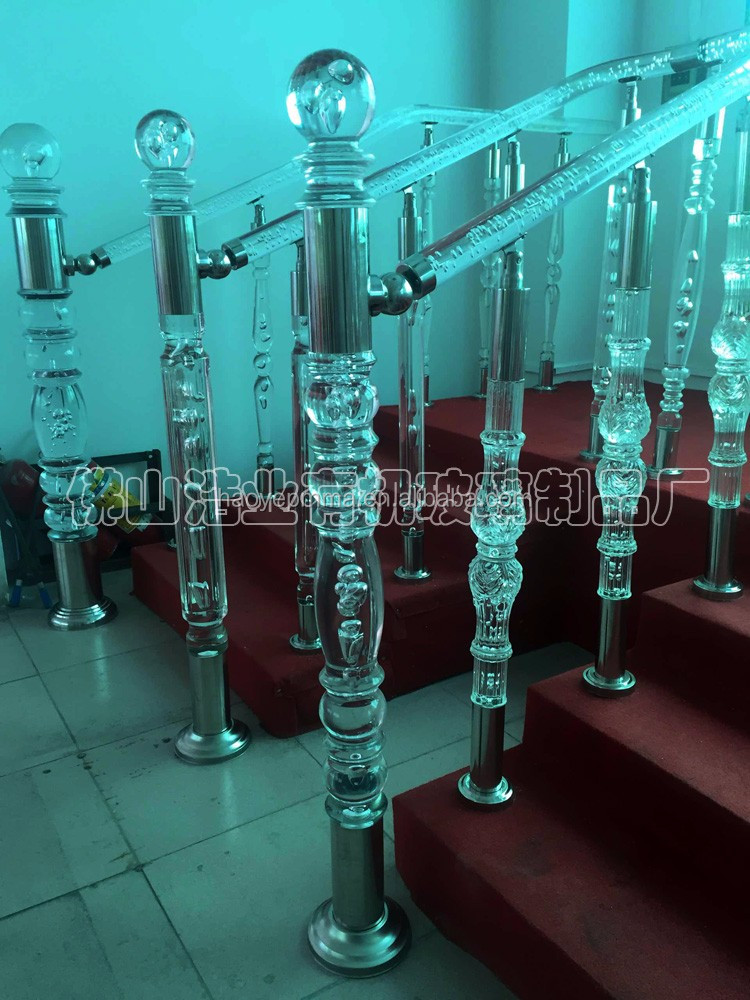 Injection crystal acrylic rod for square pillar design