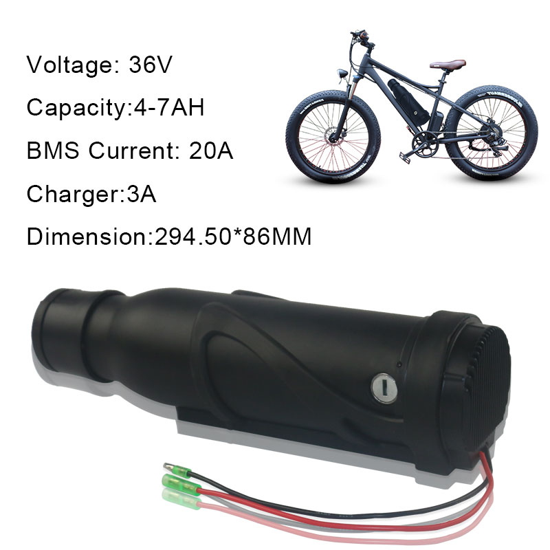 7 Color Choice 250W Electric Scooter 18650 GA Li ion Battery 36V 7Ah Pack with Charger
