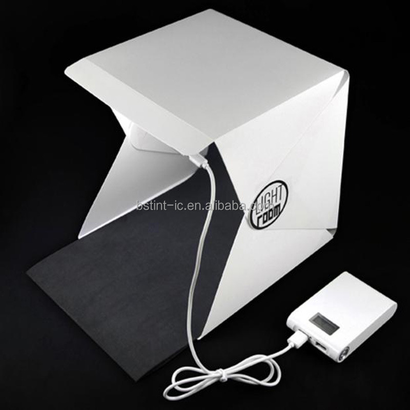 Foldable Portable Mini USB Photography LED Lightbox photo Studio for Smartphone Digital or DSLR