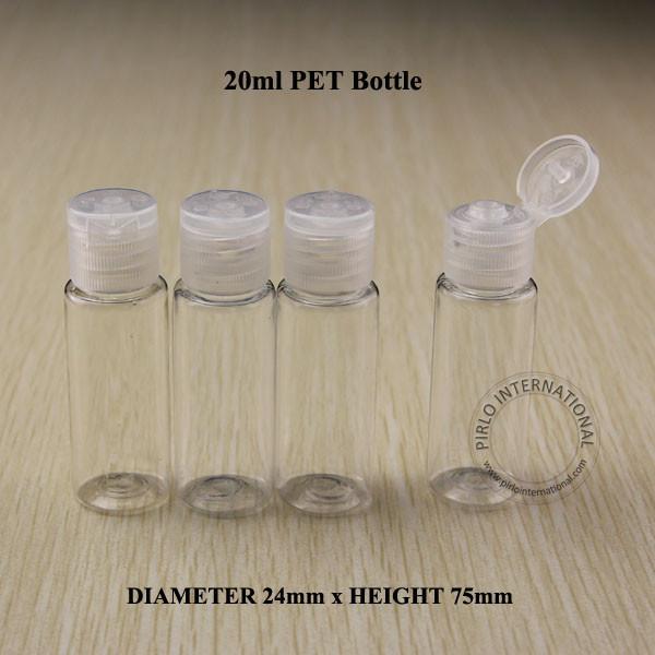 freies verschiffen mini 20 ml leere kunststoff pet flasche mit deckel f r. Black Bedroom Furniture Sets. Home Design Ideas